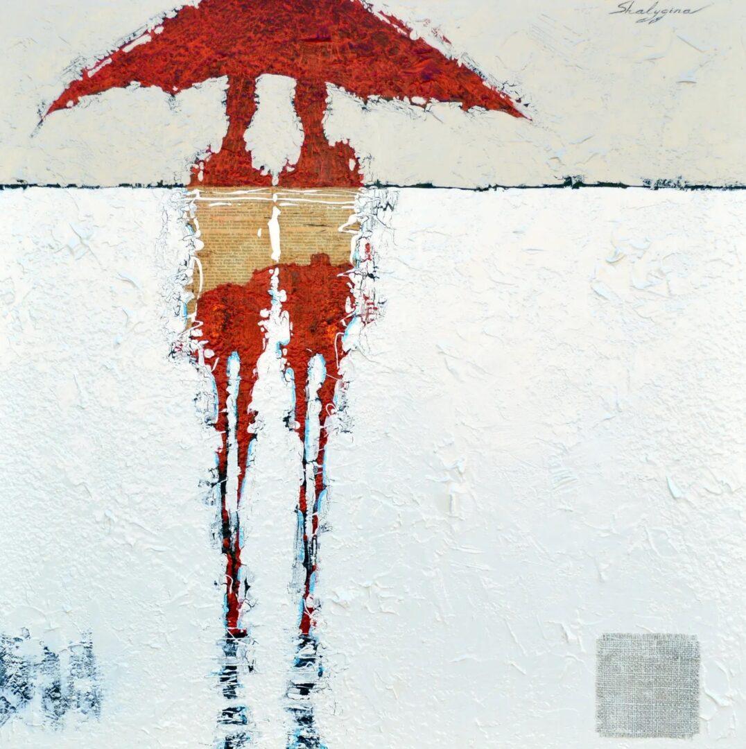 """The Umbrellas of Cherbourg"" 35"" x 35"""